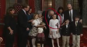 Joe Biden gropes child