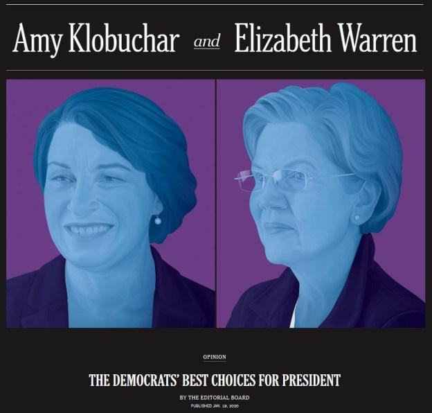 New York Times Warren Klobuchar