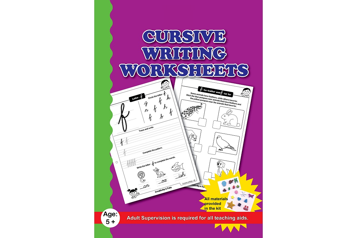 Cursive Writing Worksheets With Craft Material Lockdown