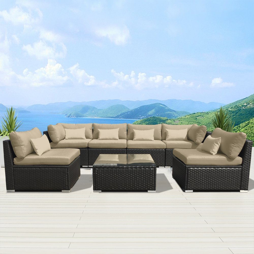 Review of Modenzi 7G-U Outdoor Sectional Patio Furniture ... on Outdoor Loveseat Sets  id=83410