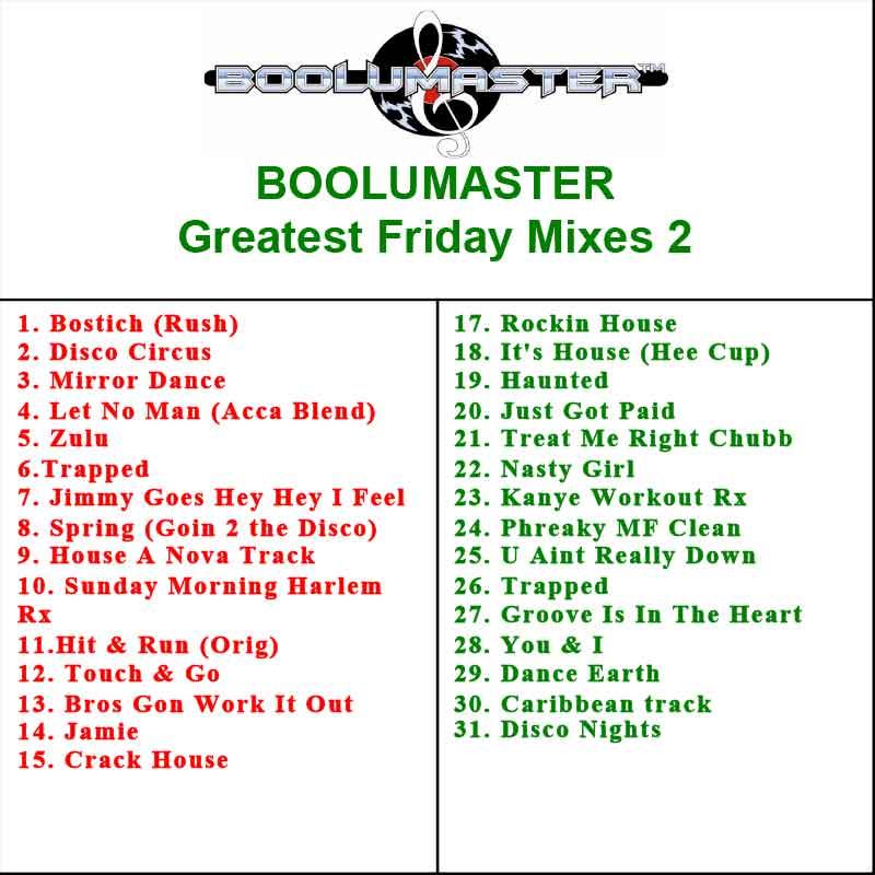 Greatest Friday Mixes 1-5 Discounted Bundle 5 Mixes