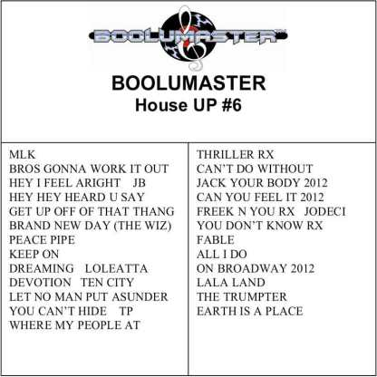 House Up 6 playlist
