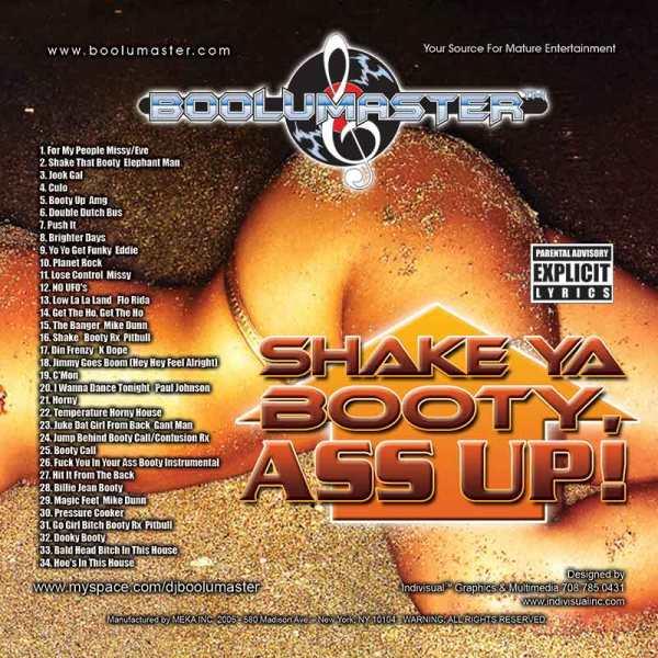 shake ya booty ass up cover