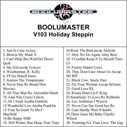 v103 holiday steppin playlist