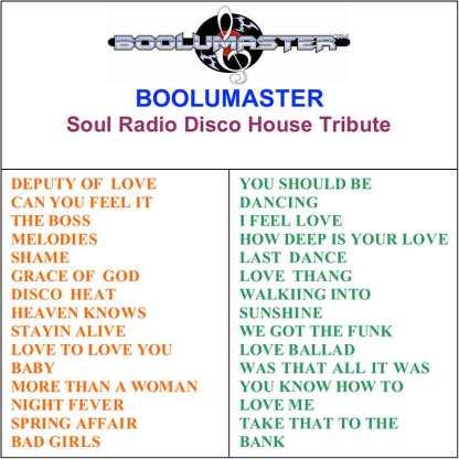 house disco tribute playlist