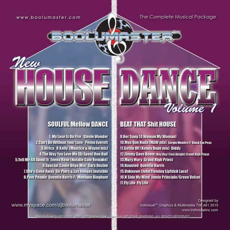 New House Dance 1-4 Discounted Bundle 4 Mixes - Boolumaster