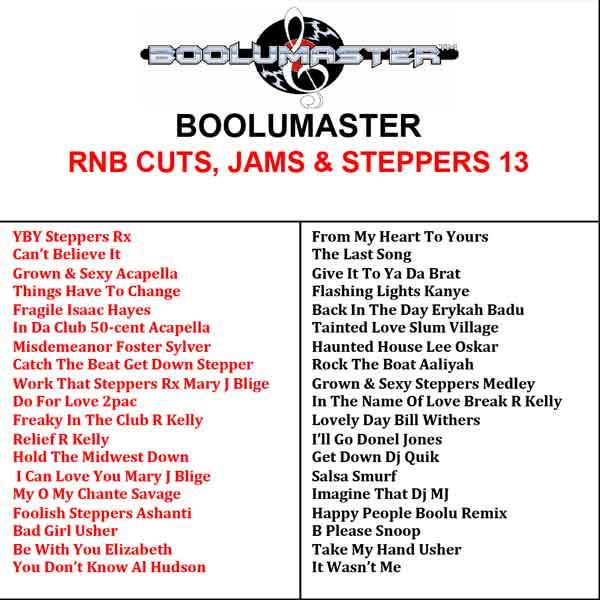 R&B cuts 13 playlist