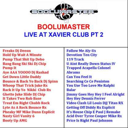 Live Xavier Club Playlist 2