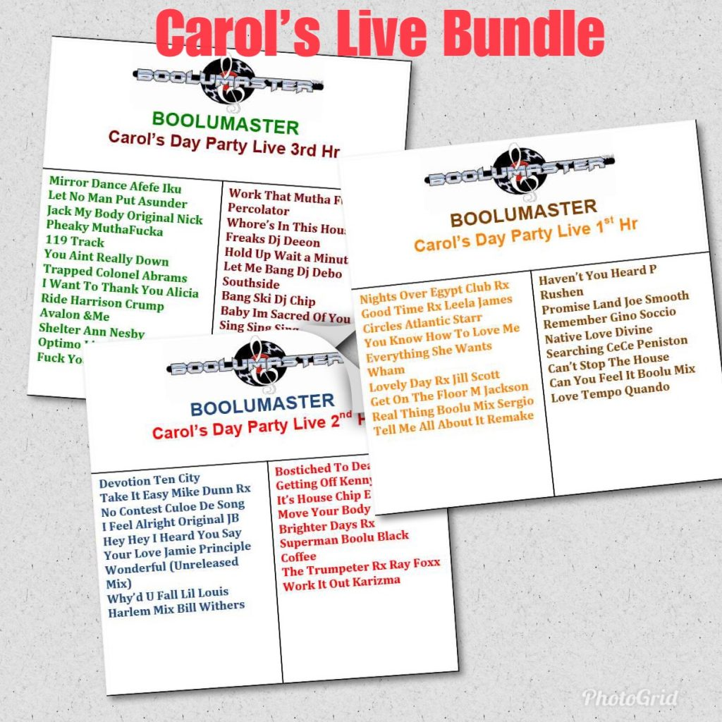 Live Carols House Music Day Party New Release - Boolumaster