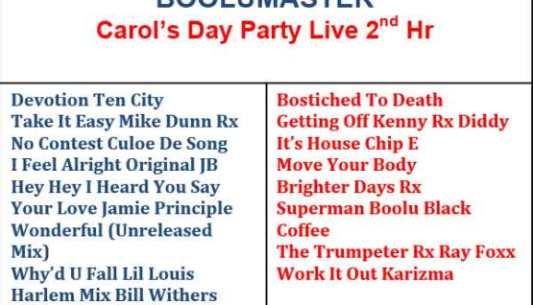 Live at Carols House Music Day Party 1st Hour - Boolumaster