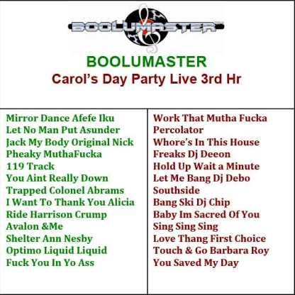 Carol Day Party 3rd playlist