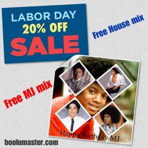 labor day 20 off MJ