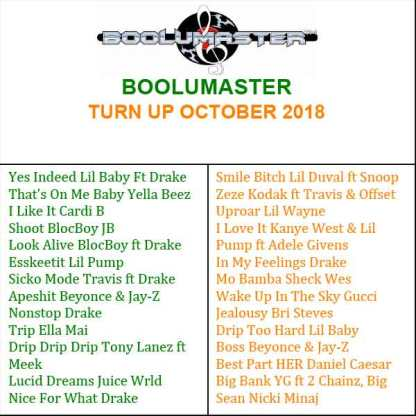 Turn Up October 2018 Playlist