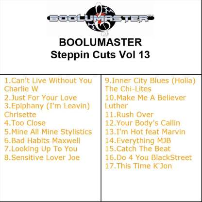 Steppin Cuts 13 Playlist