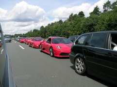 Ferraris enroute to Nurburgring