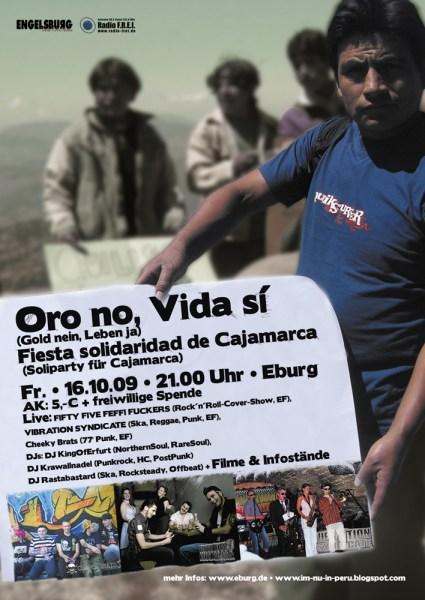 Oro no, Vida sí - Fiesta solidaridad de Cajamarca