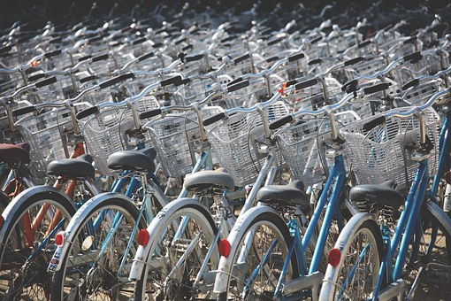 Image of many bicycles