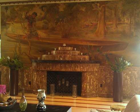Essex House Fireplace, South Beach