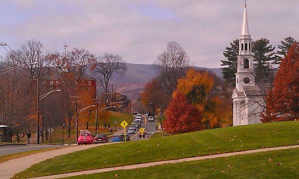 Williams College campus fall foliage