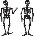 Two dancing skeltons
