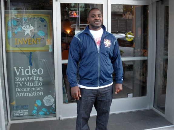 Tyrell Fortune Outside Portland Community Media Studios For Portland Sports Beat