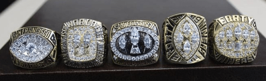49er Rings via sportslistoftheday