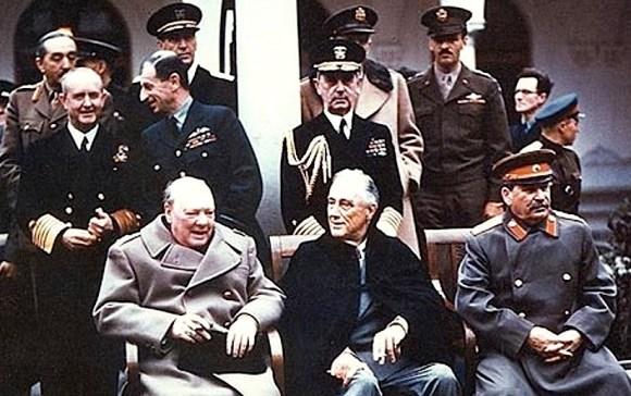 Churchill, FDR, Stalin Networking The Future At Yalta Summit, 1945. via wikimedia.org