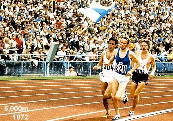 Steve Prefontaine on the right at '72 Olympics. via juanjosemartinez.com