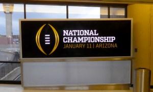 A REAL FOOTBALL NATIONAL CHAMPIONSHIP CONVERSATION