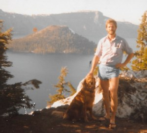 FOUNDER HOUNDER DRAGS MAN TO CRATER LAKE NATIONAL PARK
