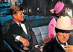 John F. Kennedy just before his assassination