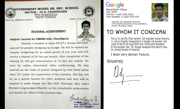 Fake Google Job Offer Mystery Deepens As Parents Principal Blame