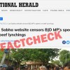 Did Lok Sabha Website Censor BJD MP's Speech On Beef Lynchings?