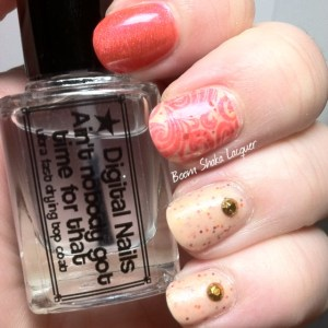 Alchemy Lacquers - Nasturtium with Aly's Dream Lacquer  - Spicy Sriracha