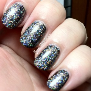 Knockout Lacquers - V.I. - Intentionally blurred (over Scofflaw - Love letter from Scofflaw)