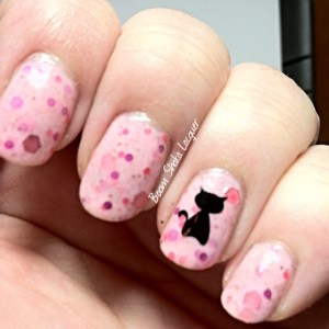 Dollish Polish - It's So Fluffy, I'm Gonna Die with YouPolish Decal