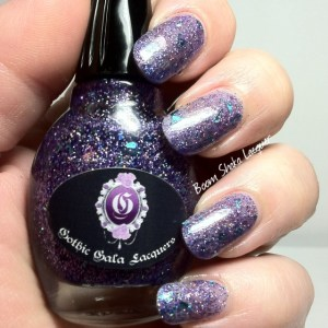 Gothic Gala Lacquers - Sapphire Sizzle (With GGL Smooth Me Over and Topcoat)