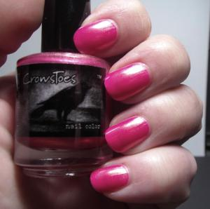 Crows Toes - Tequila Sunrise (over China Glaze - You Drive Me Coconuts)