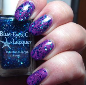 Blue Eyed Girl Lacquer - Siren's Birthday Sprinkles (over Wanna Fall in Love Tonight)