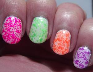 Alchemy Lacquers - (left to right) LiCl, CuSO4, CaCl, KCl