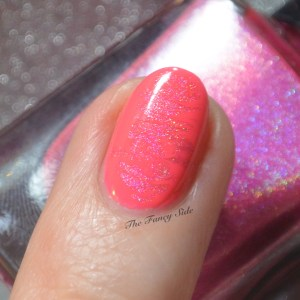 The Fancy Side - Neon Pink Nail Art