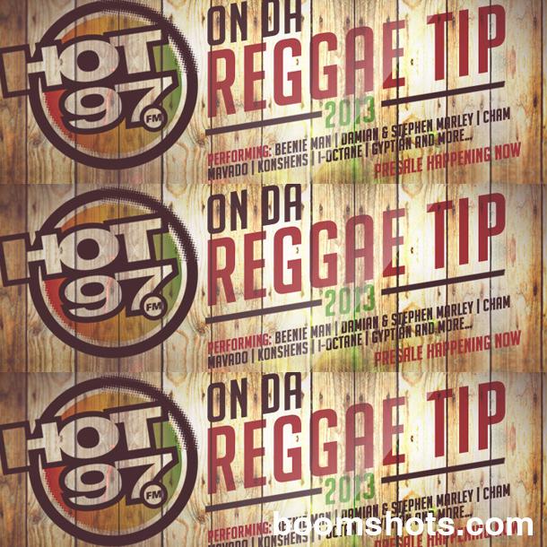 CONCERT ALERT: HOT 97's On Da Reggae Tip 2013
