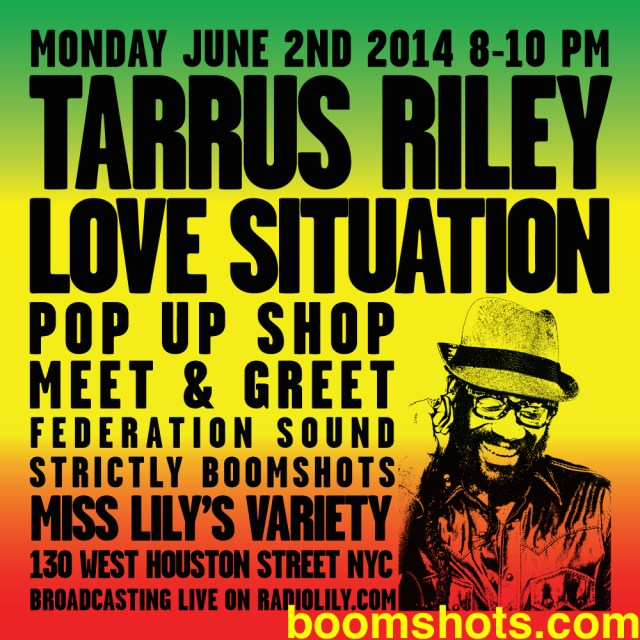 Tarrus Riley & Friends Pop-Up Shop—Way Up & Stay Up