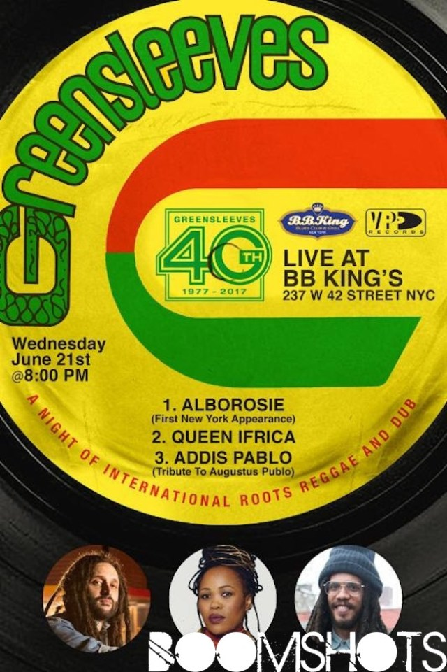 Greensleeves Records Celebrates 40th Year Anniversary at B.B. Kings Blues and Grill in New York City