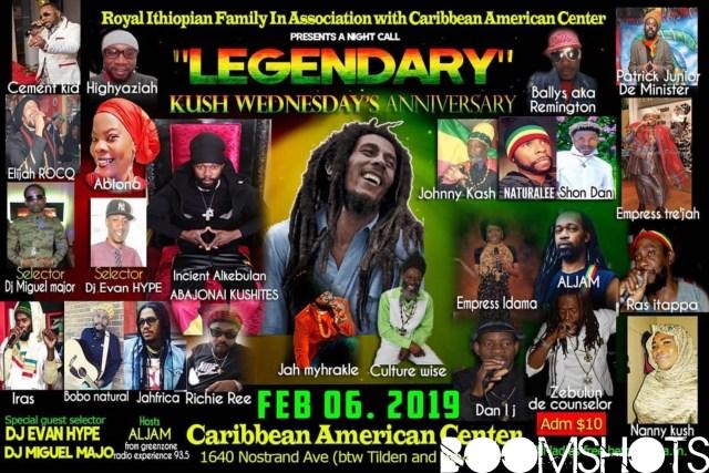Kush Wednesdays 7th Anniversary and Bob Marley Tribute