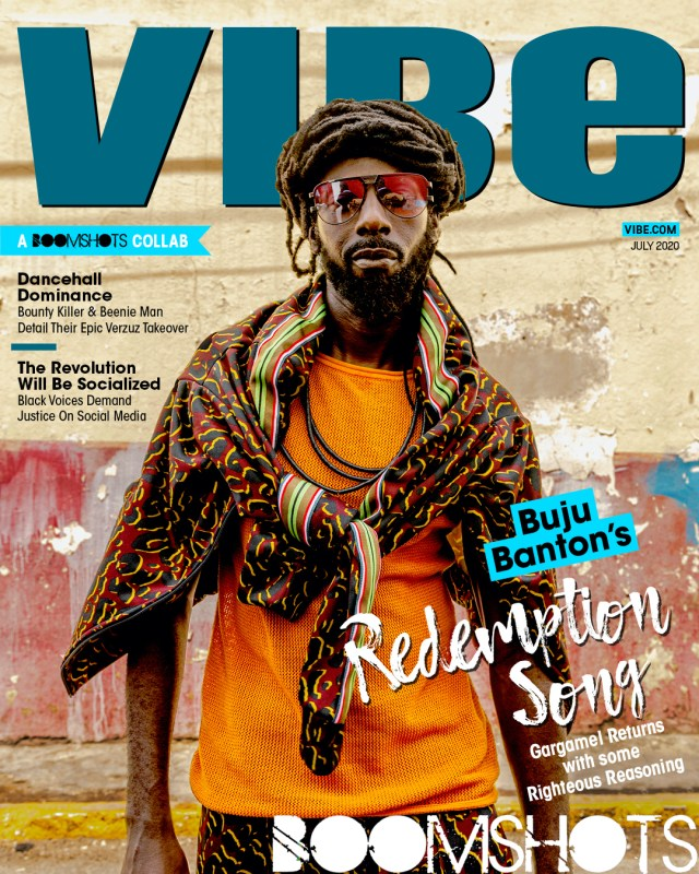 Buju Banton Covers VIBE x Boomshots Collab