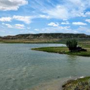 nelson creek recreation area, fort peck lake, montana campning