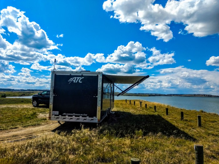 nelson creek recreation area, fort peck lake, montana campning