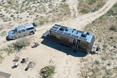 how many solar panels do I need to run rv air conditioner