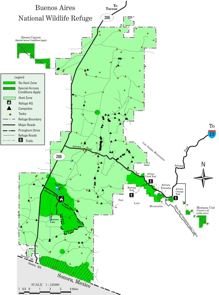 buenos aires national wildlife refuge camping map